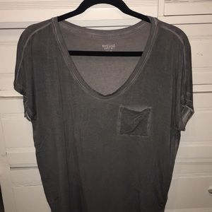 Distressed gray oversized flowy t-shirt